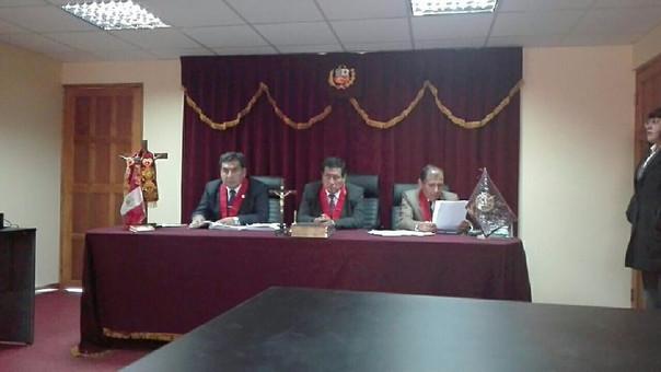 Lectura de sentencia contra ex autoridad se realizó en la sala penal de Azángaro.
