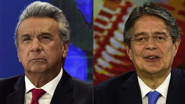 Lenín Moreno y Guillermo Lasso, los dos candidatos a la presidencia de Ecuador