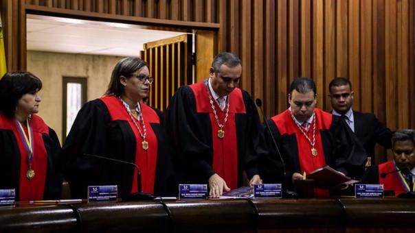 Los miembros del Tribunal Supremo de Justicia de Venezuela.