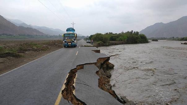 Carretera destrozada