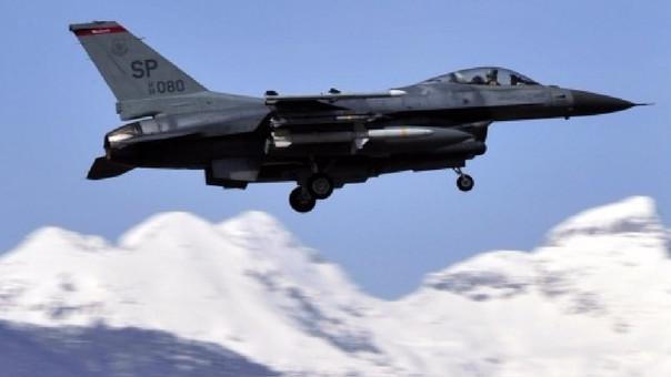 Un avión de combate F16 del ejército estadounidense.