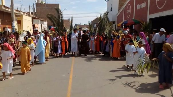 Representación del Domingo de Ramos