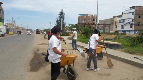 Jornada cívica de limpieza en paseo Yortuque