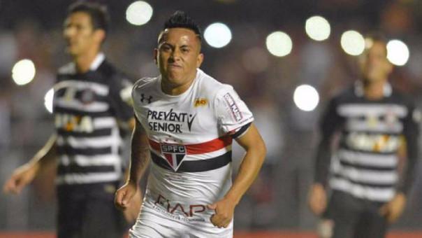 Christian Cueva lleva 7 goles con Sao Paulo en esta temporada.