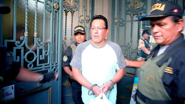Félix Moreno fue trasladado esta tarde al penal Ancón I