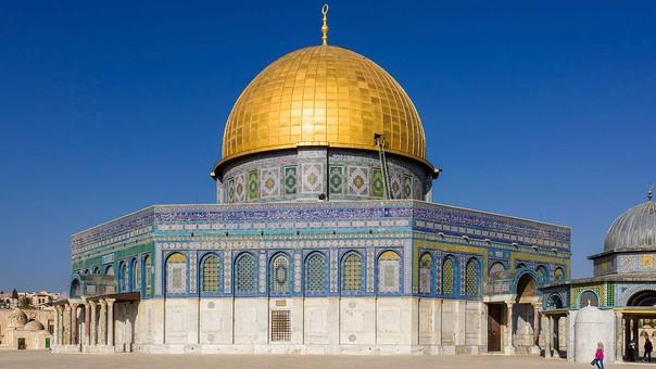 La Cúpula de la Roca, lugar sagrado para el islam. Está administrada por el gobierno de Jordania.