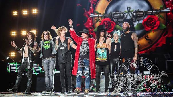 Guns N' Roses llegó por primera vez a Perú en 2016