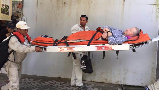 Turista francés herido en machu picchu
