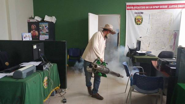 fumigación en comisaría