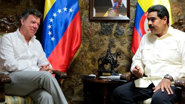 Juan Manuel Santos y Nicolás Maduro han tenido una relación tensa al mando de sus países.