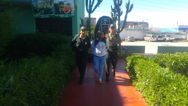 Katherin Labra está detenida en la comisaría Ciudad Mi Trabajo.