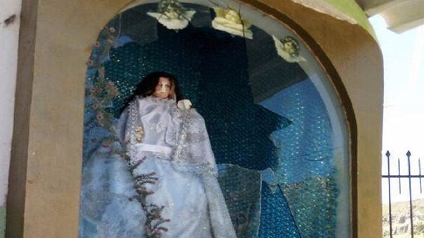 Vándalos rompieron imagen de la Virgen de Chapi — Arequipa