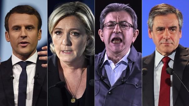Macron, Le Pen, Melenchon y Fillon son los favoritos para pasar a segunda vuelta.
