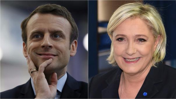 Macron y Le Pen lideran primeras estimaciones — Elecciones en Francia
