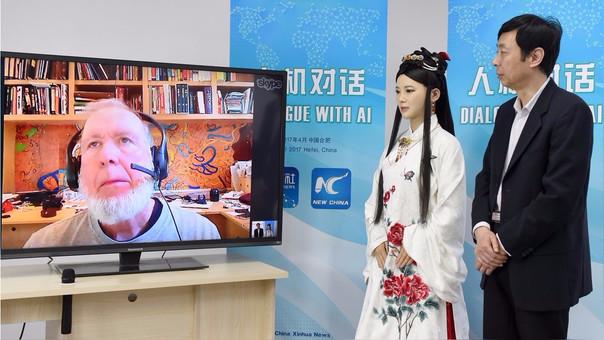 Jia Jia, quien estuvo vestida como una princesa china, demostró problemas en la entrevista.