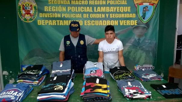 Joven detenido con mercadería de contrabando
