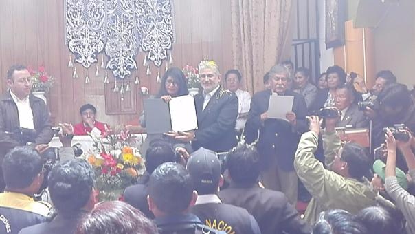 Ceremonia se realizó en la capilla del barrio Bellavista de la ciudad de Puno.