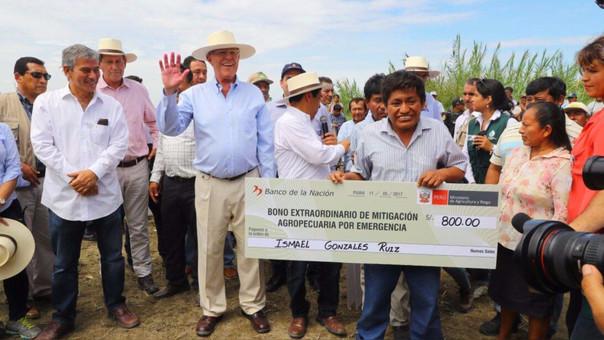 El Minagri transfirió 20 millones de soles al Fondo de Garantía para el Campo y Seguro Agropecuario, para el otorgamiento del Bono Extraordinario de Mitigación Agropecuaria por Emergencia.
