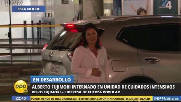 Keiko Fujimori dejó un mensaje breve a la salida de la clínica en Pueblo Libre.