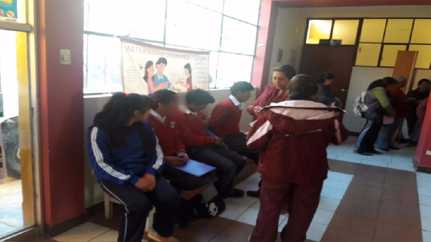 Escolares sufrieron intoxicación.