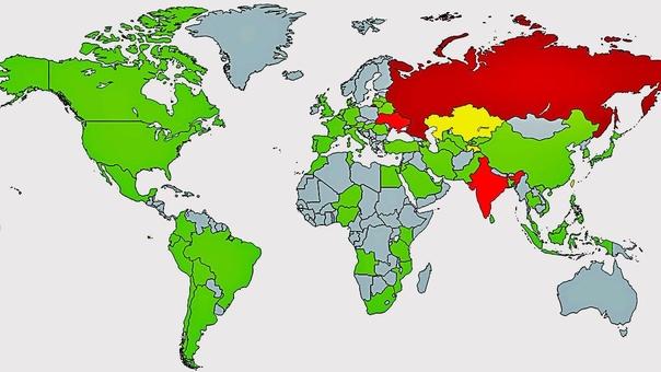 Mapa elaborado por Kaspersky Lab sobre los países afectados por el ataque.