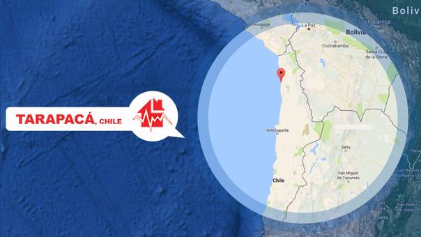 El sismo se localizó a 1.780 kilómetros al norte de Santiago de Chile.