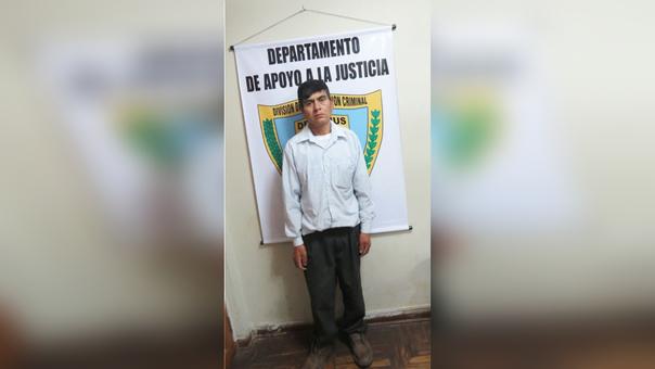 Bacilio Rafael Minchán (46) fue puesto a disposición del Poder Judicial para definir su situación legal