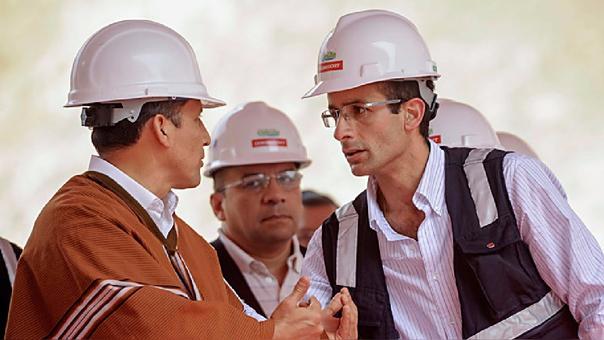 Ollanta Humala y Marcelo Odebrecht durante la inauguración de una obra en el gobierno Nacionalista.