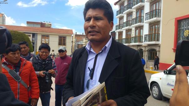 Exdiirigente, Walter Aduviri Calisaya, lideró protesta antiminera en el año 2011.