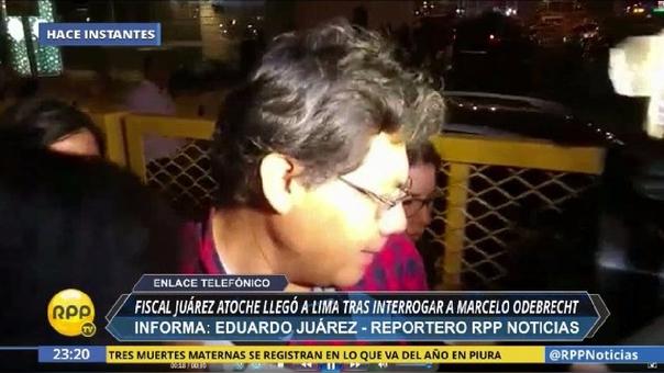 El fiscal Germán Juárez Atoche llegó a Lima esta noche.