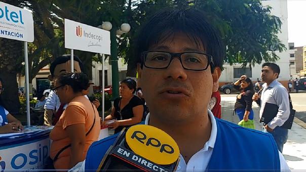 Luis Zambrano, representante de OSIPTEL en Lambayeque.