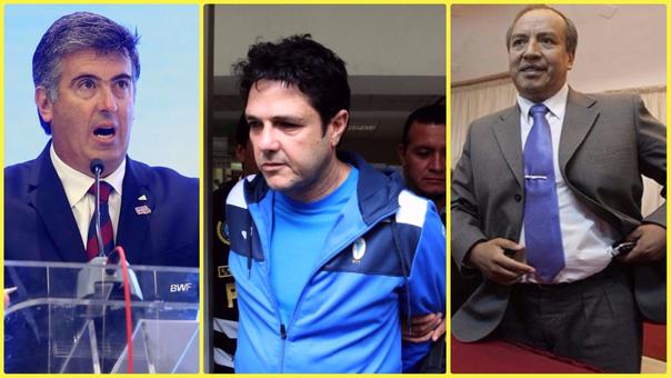 Gustavo Salazar Delgado (izquierda), José Francisco Zaragozá (centro) y Jorge Acurio Tito (derecha) son los nuevos implicados en el caso Odebrecht.