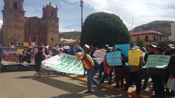 Exhortan a que no se criminalice las protestas por la defensa de sus recursos.