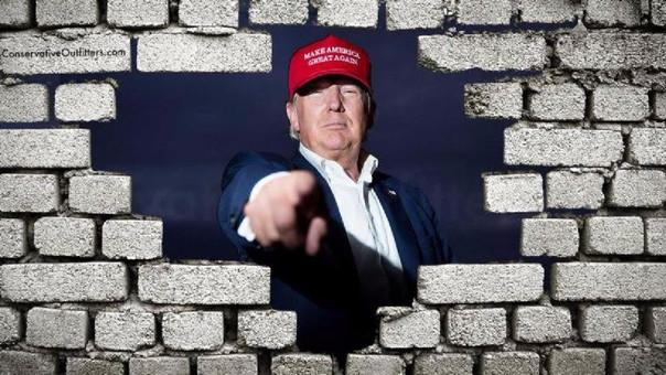 El muro fronterizo con México ha sido una de las principales promesas del mandatario durante su campaña electoral.