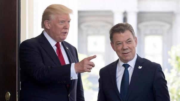 Donald Trump felicitó a su homólogo colombiano, Juan Manuel Santos, por su