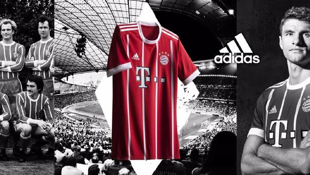 Así luce la nueva camiseta del Bayern Munich de Alemania.
