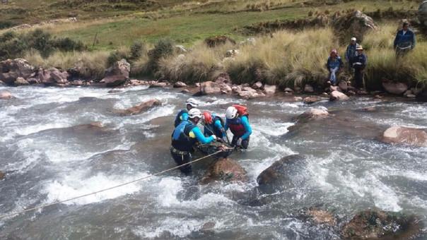 Rescate cuerpo en Cusco