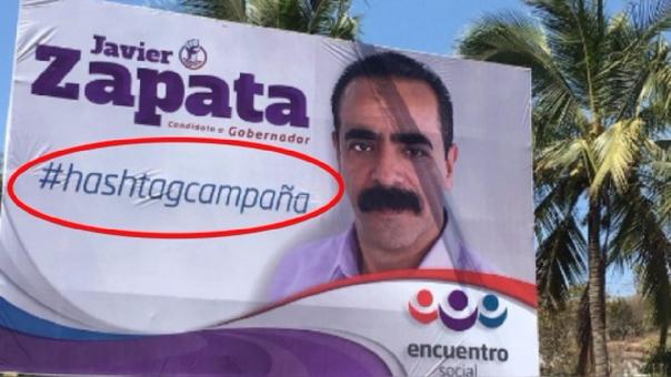 #HashtagCampaña: el eslogan erróneo de un candidato a gobernador en Nayarit