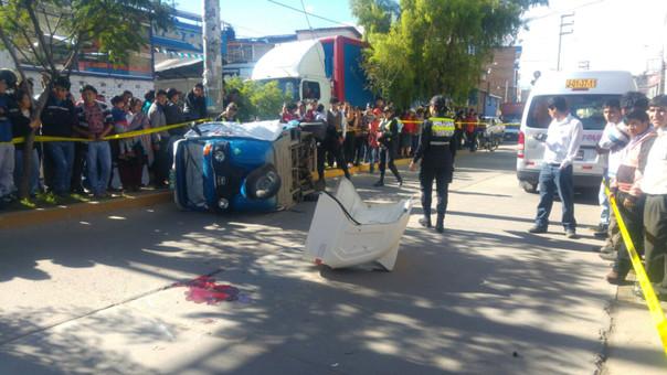 Conductores de la combi y mototaxi se encuentran detenidos a la espera de las investigaciones correspondientes