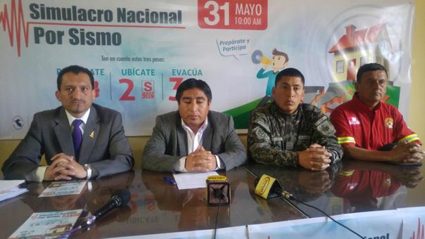 En conferencia de prensa se presentó el Simulaciro Nacional de Sismo en Cajamarca