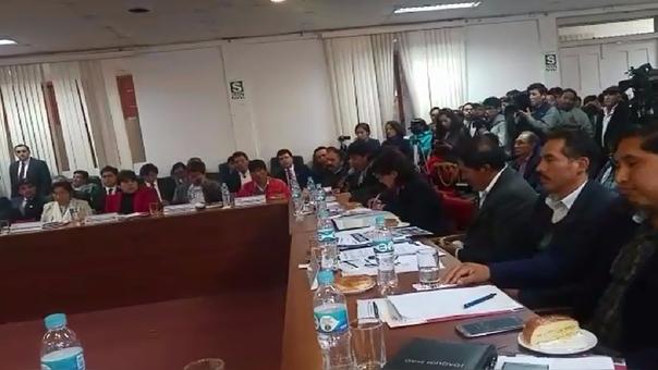 Reunión del Consejo Regional del Cusco.