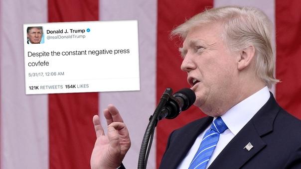 Donald Trump vuelve a causar controversia con sus tuits, pero esta vez por un error de redacción.