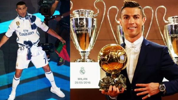 Cristiano Ronaldo ha ganado cuatro Balones de Oro, 1 como jugador del Manchester United y tres en el Real Madrid.