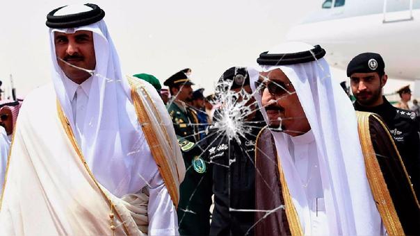 Cuando eran aliados. El emir de Qatar y el rey Salmán de Arabia Saudita.