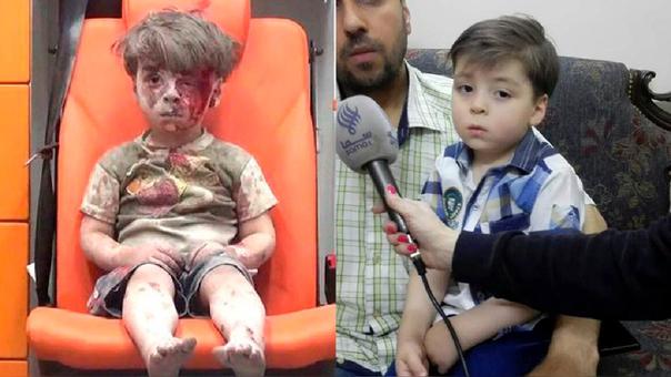Reaparece Omran Daqneesh, el niño que simbolizó la guerra en Siria