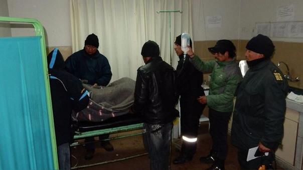 El agraviado fue llevado inicialmente al centro de salud de la Rinconada.