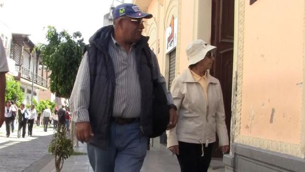 Intenso frío en la ciudad de Arequipa