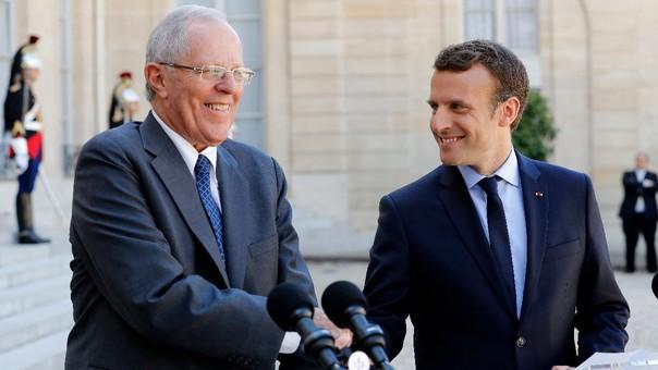 Durante su reunión con Macron del jueves en el Palacio del Elíseo, ambos presidentes hablaron sobre la lucha contra el cambio climático y sobre cooperación tecnológica.