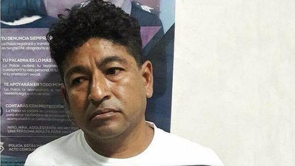 Tras su captura fue puesto a disposición de la Policía Judicial de Sullana.