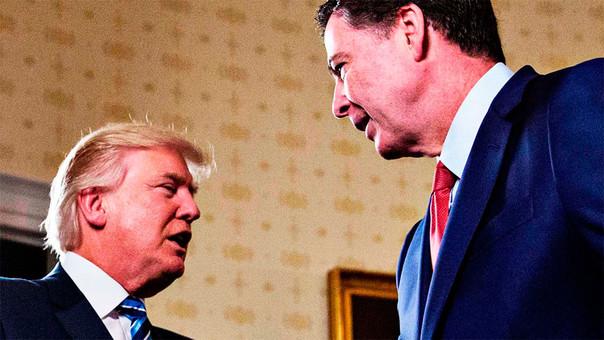 Trump y Comey cuando aún no había tensiones entre ambos.